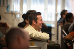 Ryan Smith Laughing in Estes Chapel - 2