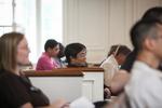 Dr. Kima Pachuau Listening in Estes Chapel