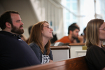 Students Listening in Estes Chapel