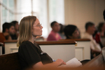 Sandra McKinney Listening in Estes Chapel