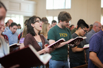Students Singing in Estes Chapel - 2