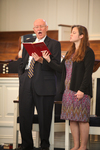 Dr. Bob Stamps and Katie Grover Singing in Estes Chapel