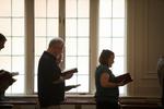 Chris Dunagan and Kristy Hansen Singing in Estes Chapel