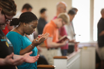 Zainab A-Reynolds Praying in Chapel