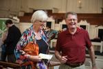 Ellen Stamps and Dr. Steve Seamands in Estes Chapel