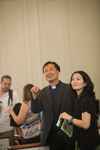 Rev. Nam Koh and Susie Patrick in Estes Chapel