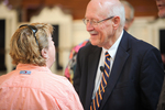 Dr. Bob Stamps and Nann McMullen in Estes Chapel