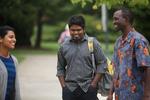International Students Talking on Campus