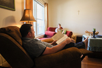 Jonas and Jessica Hamilton in Their Living Room - 3