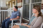 Jonas and Jessica Hamilton on Their Porch - 3