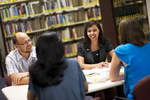 Staff Talking in the Orlando Library