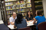 Staff Talking in the Orlando Library - 7