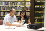 Dan McKinley and Keyla Gonzalez in the Orlando Library