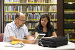 Dan McKinley and Keyla Gonzalez in the Orlando Library - 2