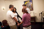Students Praying in Orlando - 3