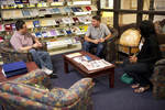 Students Talking in the Orlando Library - 2