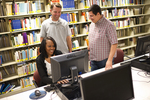 Students Using the Computer in the Orlando Library - 3