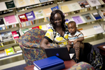 A Mother and Child in the Orlando Library