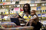 A Mother and Child in the Orlando Library - 2