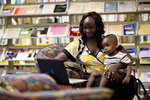 A Mother and Child in the Orlando Library - 5
