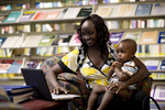 A Mother and Child in the Orlando Library - 6
