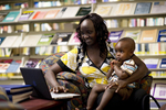 A Mother and Child in the Orlando Library - 7