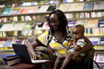 A Mother and Child in the Orlando Library - 8