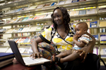 A Mother and Child in the Orlando Library - 10