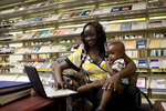 A Mother and Child in the Orlando Library - 11
