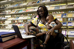 A Mother and Child in the Orlando Library - 13