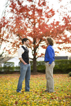 Luke McKeel and John Crosland in the Fall Leaves