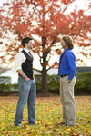 Luke McKeel and John Crosland in the Fall Leaves - 2