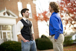 Luke McKeel and John Crosland in the Fall Leaves - 3