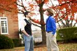 Luke McKeel and John Crosland in the Fall Leaves - 5