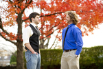 Luke McKeel and John Crosland in the Fall Leaves - 6