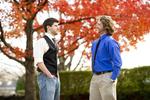 Luke McKeel and John Crosland in the Fall Leaves - 7