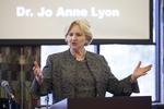 Dr. Jo Anne Lyon in Orlando Chapel