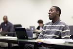 A Male Orlando Student in Class - 8