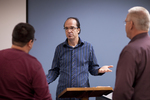 Dr. Brian Russell Talking with Students - 2