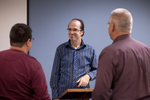 Dr. Brian Russell Talking with Students - 3