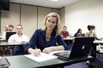 A Female Orlando Student in Class - 20