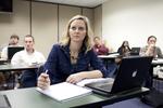 A Female Orlando Student in Class - 21