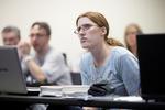 A Female Orlando Student in Class - 22