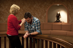 Peg Hutchins and Kyle Mullett Praying in Fletcher