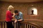 Peg Hutchins and Kyle Mullett Praying in Fletcher - 5