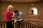 Peg Hutchins and Kyle Mullett Praying in Fletcher - 6