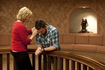 Peg Hutchins and Kyle Mullett Praying in Fletcher - 7