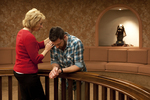 Peg Hutchins and Kyle Mullett Praying in Fletcher - 8