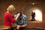 Peg Hutchins and Kyle Mullett Praying in Fletcher - 10