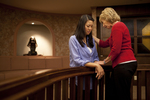 Hannah Mun and Peg Hutchins Praying in Fletcher - 4